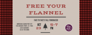 free your flannel - face2face.org fundraising event